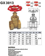 gate valve for brass