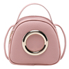 Women's bag 2019 new trend Korean version of personality iron ring small round package PU small bags oblique phone bag