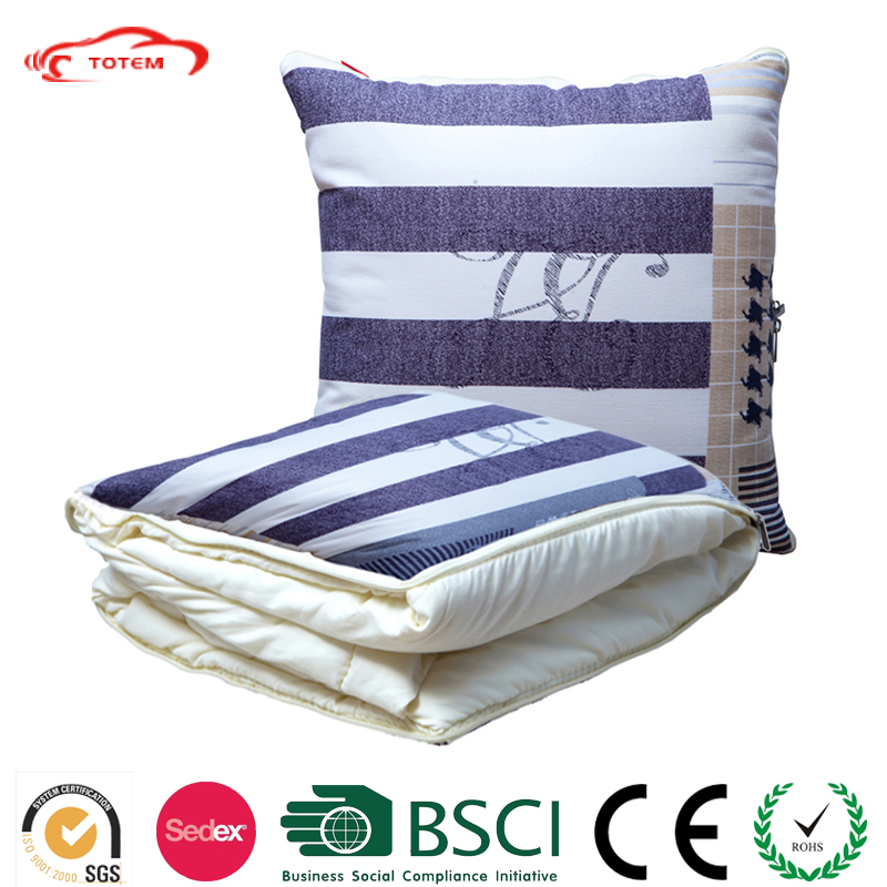 Super Comfortable Cotton Pillow Quilt/Car Multi-Function Cushions Dual Bolster