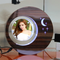 LED suspending in the air magnetic levitation photo frame wish pearl gift set