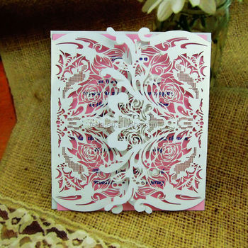2015Teda FC-008 Overlap Personalized Handmade Folded Greeting Cards