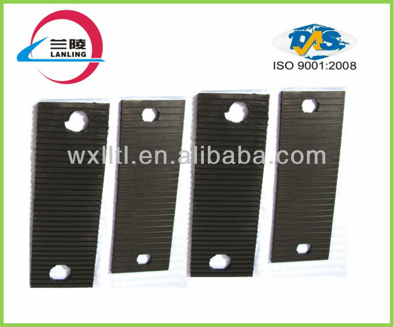 Grooved Turnout rail pad rubber plate under railway concrete sleeper /railway sleepers rubber/rubber pad under rail sleeper