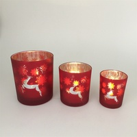 Wholesale bohemian home decor glass cross candle holder wholesale