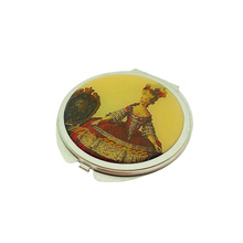 Metal Round Silver Pocket Mirror/ Mini Cosmetic Make Up Compact Hand Mirror For Craft Souvenir Gift