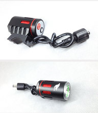 Direct selling Led bike light wiht 1pcs CREE XML LEDs rechargeable battery 18650 led dipped headlight and high beam light