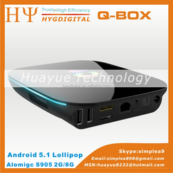 q box s905 qbox 2g 8g android 5.1 tv box kodi 16.0 16.1 stable quality hot selling