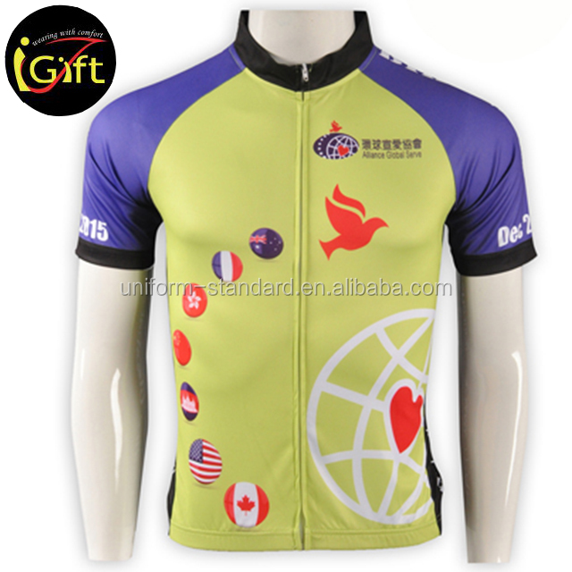Wholesale Custom Embroidery design cheap china cycling clothing