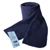 100% polyester 100D 144F warm and soft unisex anti pilling navy polar fleece scarf