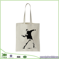 decorated custom canvas tote bags for cloth shop
