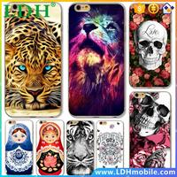 Cases for iphone 5 5s SE 6 6s Plus 6Plus Soft TPU Transparent Edge Lion skull leopard russia dolls Matryoshka Pained Case Cover