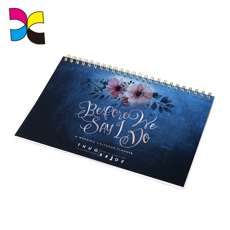 Standard size & cardstock made Custom Desk calendars Printing as custom request