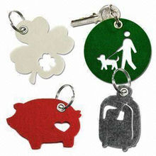 Laser Cut Animal felt keychains