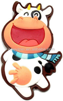 Funny cow factory custome soft PVC fridge magnet