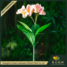New products low MOQ decorative artificial real touch plumeria flowers