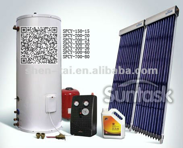 Intelligent Control Split Solar Water Heater Speciall Designed For The Villa SFCY-01 Series