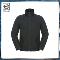 Men stylish black slim fit coat lightweight sports jacket