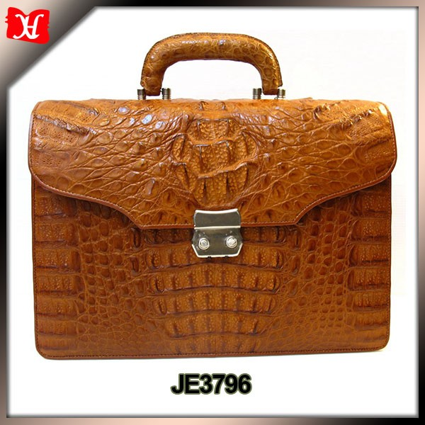 Custom trendy mens Genuine crocodile leather briefcase leather