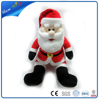 Different design 39cm plush santa claus christmas toy , baby toy with low price