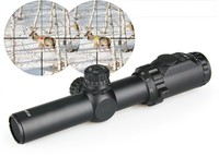1-0254 Compact Army War Game Assault Hunting Military Tactical 1.25-4x30 Adjustable Rifle Scope with Red / Green Illuminated