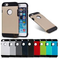 Wholesale Double Color Slim Hard Armor Phone Case For iPhone 6 6s Case