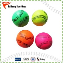 Multi-color pitching machine baseball