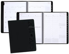 2016-2018 Academic Year Contemporary Weekly and Monthly Appointment Book, Wirebound, Black