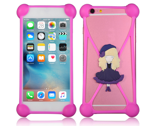 OEM 3D cartoon Back Universal silicone cell mobile phone case cover for Iphone for Samsung