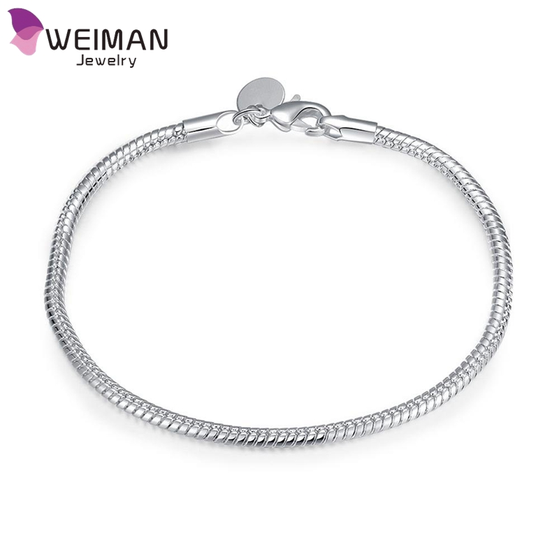 3M Lobster Clip Bracelets Fashion Silver Plated Snake Bones Bracelet Wholesale