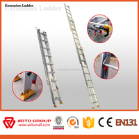 Rope extension ladder, pulley system extension ladder, aluminum extension ladder