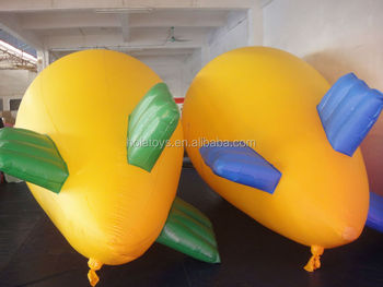 Yellow inflatbale helium balloon/inflatable blimp for sale