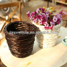 Wedding photography prop Mini wicker artware baskets white flower basket