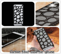 Professional super thin real mobile carbon hole cover case for iphone 6