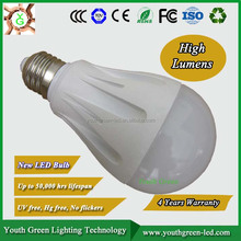 5 years warranty, CE ROHS 12W High Lumen R80 E27 LED Bulb factory supply smd5630 9w 12w e27 led bulb