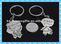 Wholesale Blank Metal Keychains Cheap couple Metal Keychains Cute Key Ring Metal