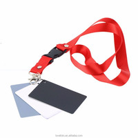 Camera Accessory 3 in1 Pocket-Size Digital White Black Grey Balance Cards 18% Gray Card with Neck Strap for Digital Photography