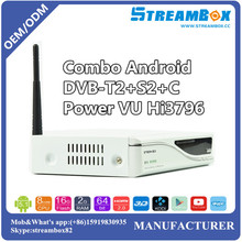 Android Combo DVB-S2+T2+C Power VU Hi3796 USB Blue3.0 IKS CCCam IPTV Satellite TV Receiver