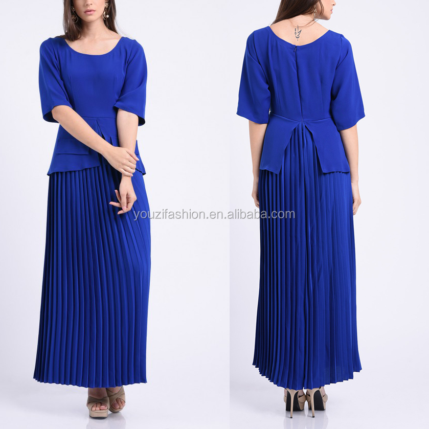 Women clothing two piece dress ladies designer skirt suits with pleated maxi skirt women office suit