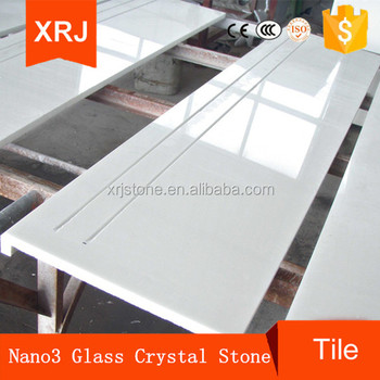 Pure White Crystallized Glass Stone, Nano Crystal Glass Stone