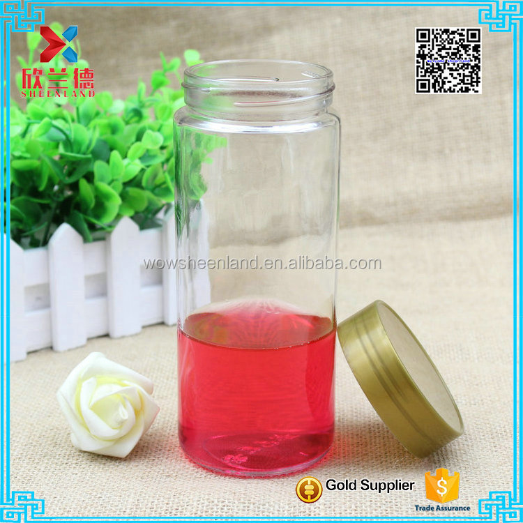 wholesale cylinder design 500ml big volume candy jar/ food jar for sale