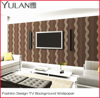Fashion Modern Design Vinyl Wallpaper for TV Background Wall