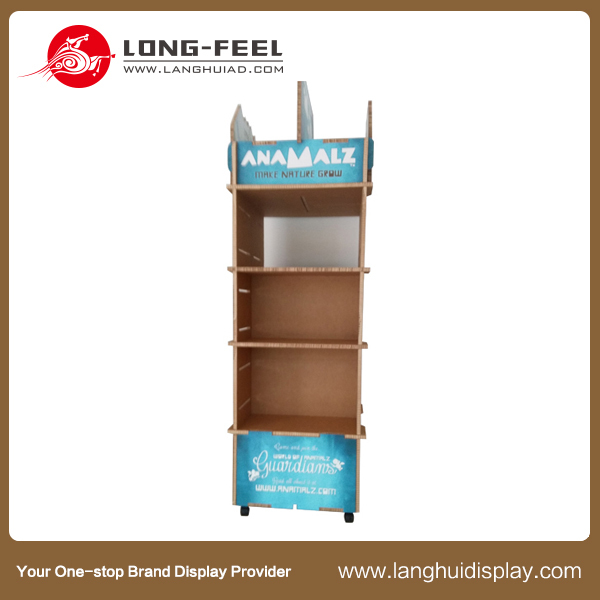 Custom Advertising Make Up Cosmetics Products Cardboard Display Stand