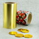 Food Packaging Golden Chocolate Coin Aluminum Foil Wrapping Paper