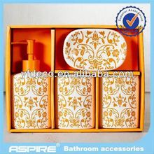 New ceramic bathroom cheap spa accessories set wholesaler