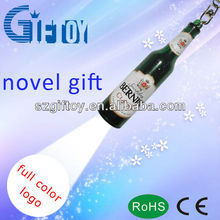 mini projector led flashlight torch keychain wine bottle type