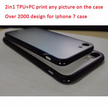 Custom Design Logo Print TPU PC Transparent Clear Blank Cell Phone Case for iphone 7 case