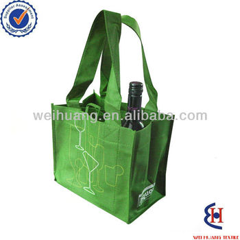 Alibaba wholesale non woven fabric bag, bottle bag
