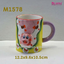 hot selling ceramic pig coffee mug