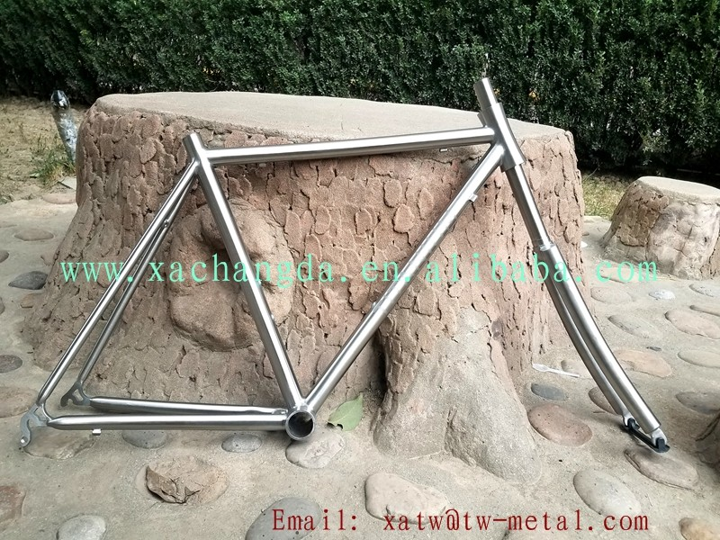 XACD Titanium road bike frame Ti road bike frame Integrated head tube