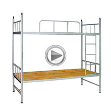 Modern school furniture bunk bed heavy duty metal bunk bed iron double bed