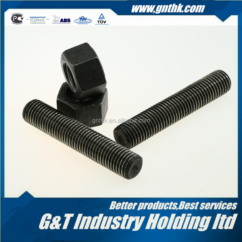 "STUD BOLT M14*LENGTH(from 25mm-10000mm or 1""-32FT) ASTM A193 B7 PLAIN FULL THREADED"